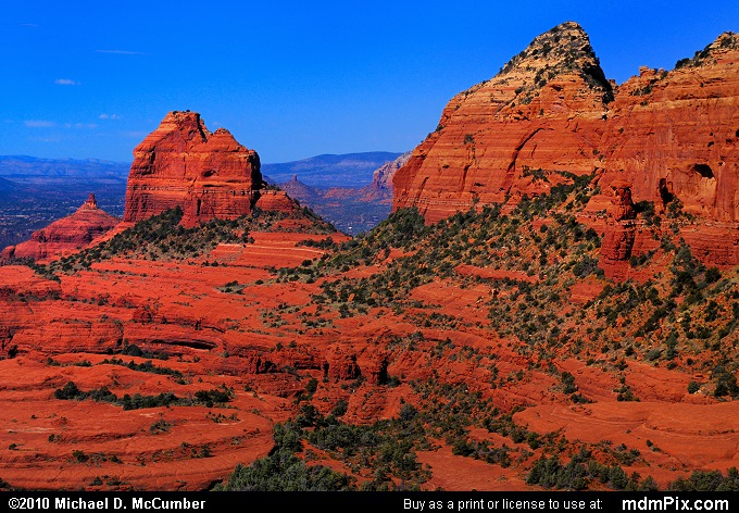 Thumb Butte and the Bench (Thumb Butte and the Bench Picture 102 - September 20, 2010 from Sedona, Arizona)