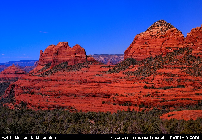 Thumb Butte and the Bench (Thumb Butte and the Bench Picture 111 - September 20, 2010 from Sedona, Arizona)