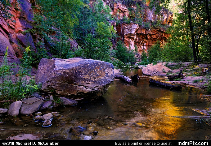 West Fork of Oak Creek with Red Canyon Walls