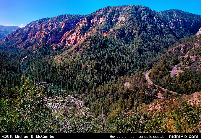Oak Creek Canyon Vista South of Flagstaff