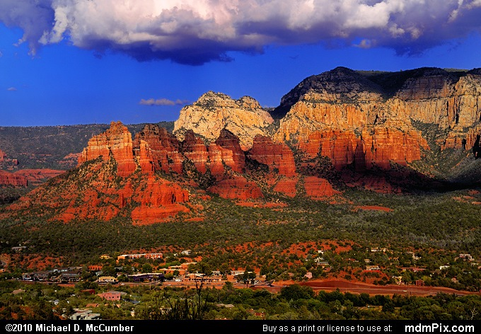 Munds Mountain (Munds Mountain Picture 104 - September 21, 2010 from Sedona, Arizona)