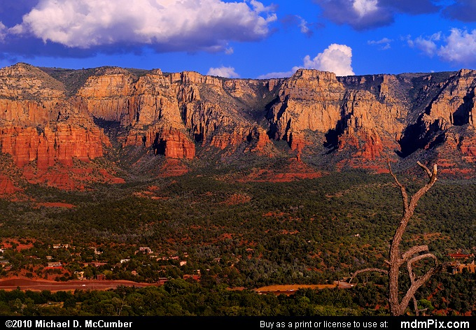 Mogollon Rim, an Escarpment's Edge at Sedona