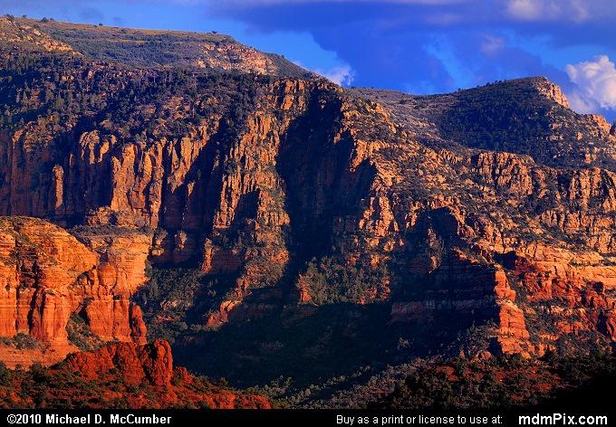 Incredible Profile of Sedona's Lee Mountain in Evening