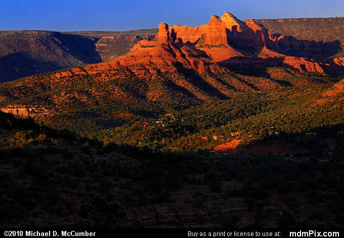 Thumb Butte and the Bench (Thumb Butte and the Bench Picture 137 - September 21, 2010 from Sedona, Arizona)