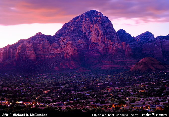 Capitol Butte and Thunder Mountain Following Sunset