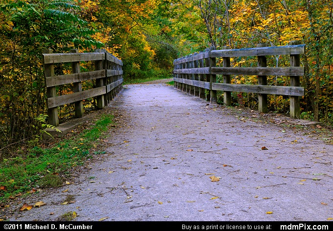 Rustic Bridge (Rustic Bridge Picture 002 - October 12, 2010 from Cedar Creek Park, Pennsylvania)
