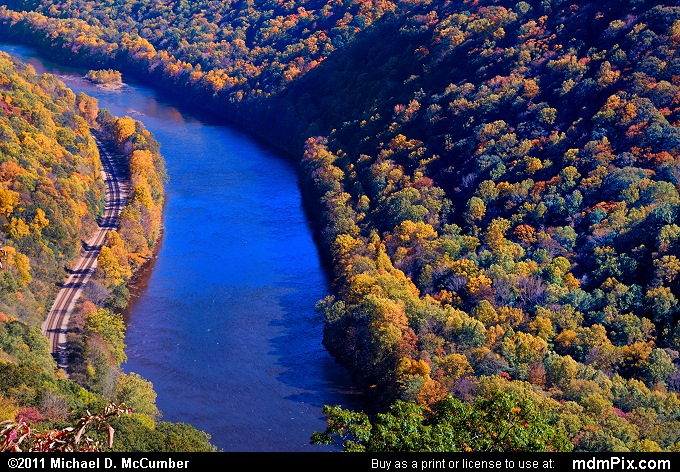 Casparis Lookout Point (Casparis Lookout Point Picture 040 - October 13, 2010 from PA State Game Land 51)