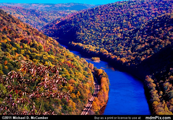 Youghiogheny Gorge (Youghiogheny Gorge Picture 043 - October 13, 2010 from PA State Game Land 51)