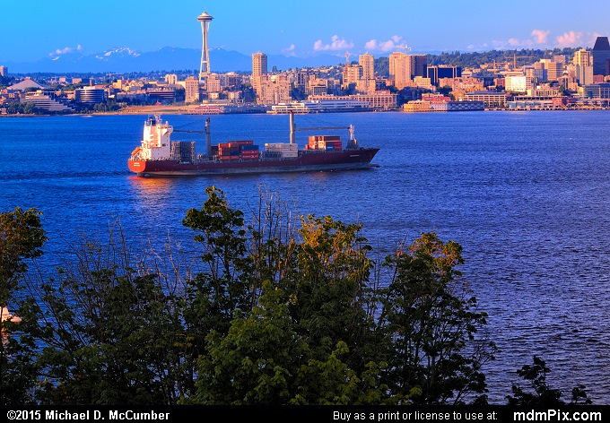 Large Freighter (Large Freighter Picture 010 - July 29, 2011 from Seattle, Washington)