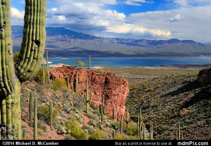 Tonto National Monument's View of Roosevelt Lake