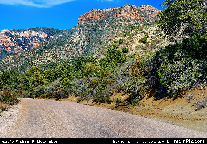 State Route 288 Globe-Young Highway (State Route 288 Globe-Young Highway Picture 025 - February 12, 2015 from Sierra Ancha Experimental Forest, Arizona)