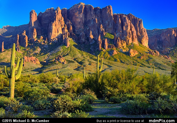 Superstition Mountain (Superstition Mountain Picture 025 - February 15, 2015 from Lost Dutchman State Park, Arizona)