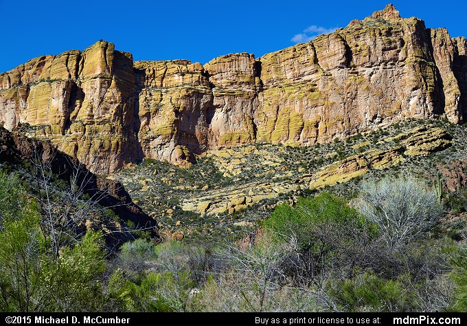 Fish Creek Canyon (Fish Creek Canyon Picture 047 - February 16, 2015 from Superstition Wilderness (Arizona))