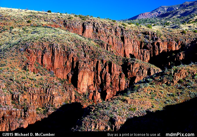 Hog Canyon (Hog Canyon Picture 023 - February 18, 2015 from Sierra Ancha Experimental Forest, Arizona)