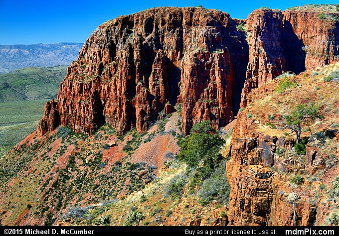 Parker Canyon (Parker Canyon Picture 069 - February 18, 2015 from Sierra Ancha Experimental Forest, Arizona)