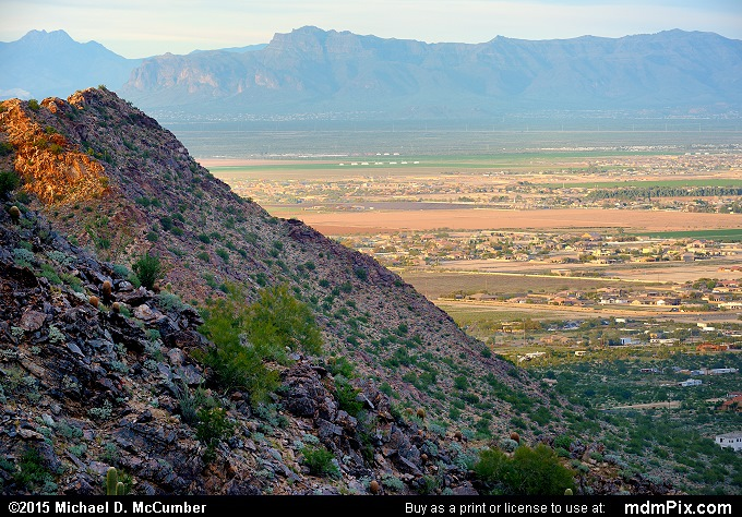 San Tan Mountains (San Tan Mountains Picture 021 - February 21, 2015 from San Tan Mountain Regional Park, Arizona)
