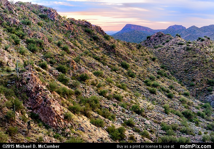 San Tan Mountains (San Tan Mountains Picture 032 - February 21, 2015 from San Tan Mountain Regional Park, Arizona)