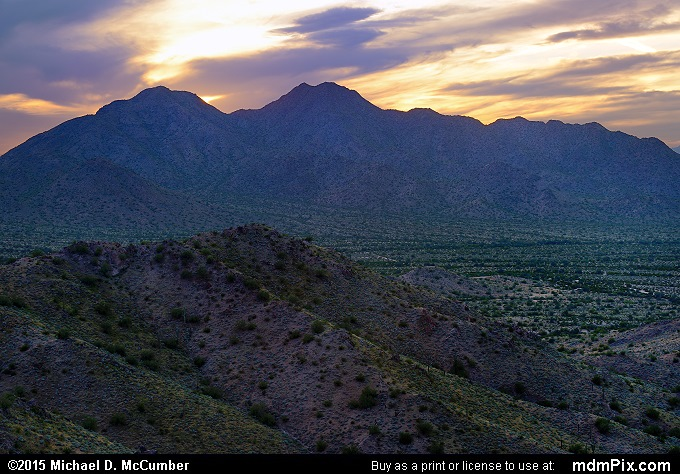 San Tan Mountains (San Tan Mountains Picture 033 - February 21, 2015 from San Tan Mountain Regional Park, Arizona)