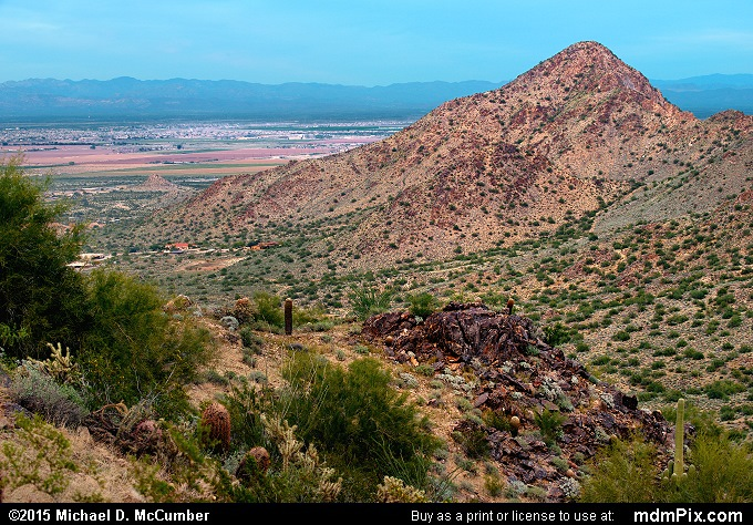 Goldmine Mountain (Goldmine Mountain Picture 038 - February 21, 2015 from San Tan Mountain Regional Park, Arizona)