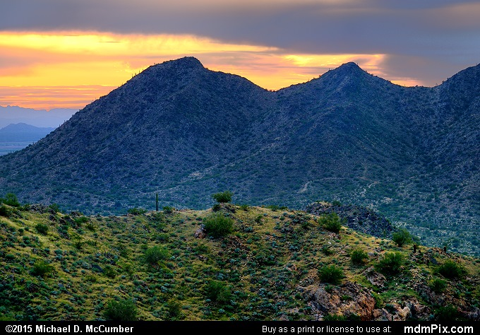 San Tan Mountains at Sunset