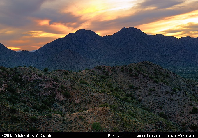 San Tan Mountains (San Tan Mountains Picture 042 - February 21, 2015 from San Tan Mountain Regional Park, Arizona)