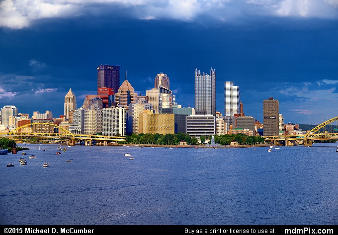 Pittsburgh Skyline (Pittsburgh Skyline Picture 002 - August 1, 2015 from Pittsburgh, Pennsylvania)