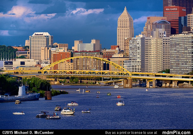 Fort Duquesne Bridge (Fort Duquesne Bridge Picture 003 - August 1, 2015 from Pittsburgh, Pennsylvania)