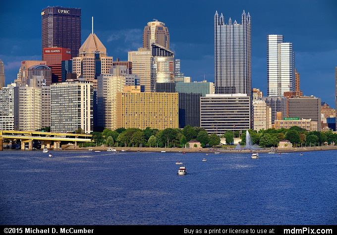 Pittsburgh Skyline (Pittsburgh Skyline Picture 005 - August 1, 2015 from Pittsburgh, Pennsylvania)