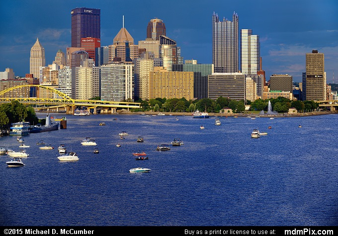 Pittsburgh Skyline (Pittsburgh Skyline Picture 007 - August 1, 2015 from Pittsburgh, Pennsylvania)