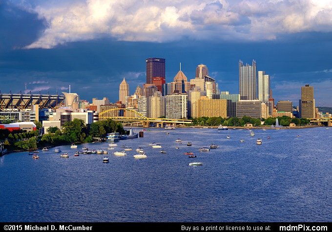 Pittsburgh Skyline (Pittsburgh Skyline Picture 008 - August 1, 2015 from Pittsburgh, Pennsylvania)
