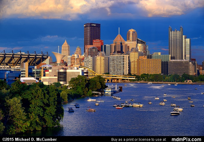 Pittsburgh Skyline (Pittsburgh Skyline Picture 011 - August 1, 2015 from Pittsburgh, Pennsylvania)