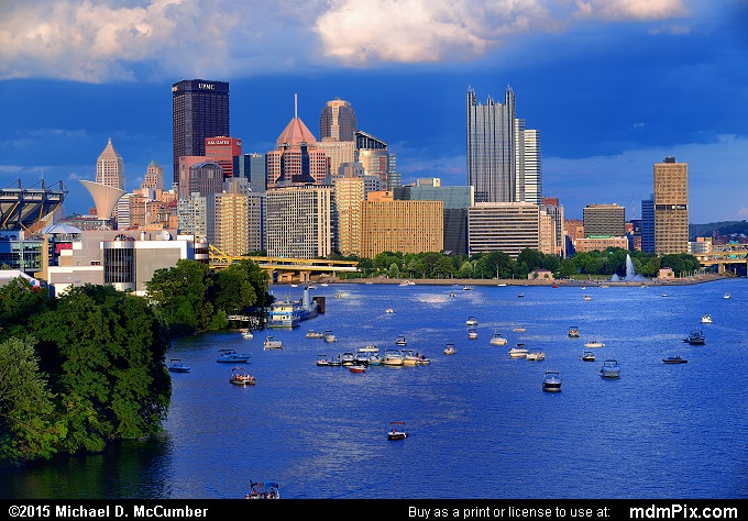 Pittsburgh Skyline (Pittsburgh Skyline Picture 013 - August 1, 2015 from Pittsburgh, Pennsylvania)