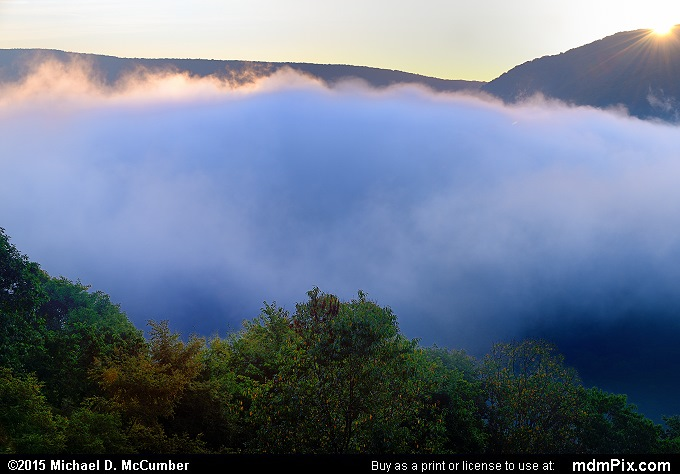 Sunrise (Sunrise Picture 001 - September 19, 2015 from Ohiopyle State Park, Pennsylvania)