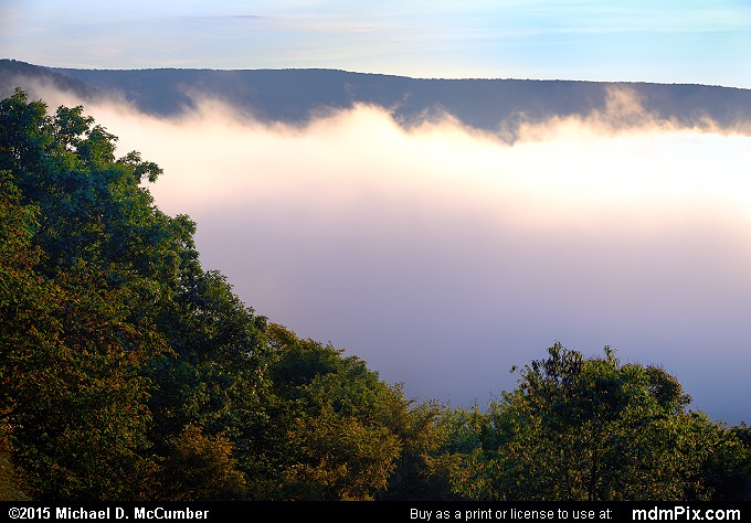 Fog (Fog Picture 004 - September 19, 2015 from Ohiopyle State Park, Pennsylvania)