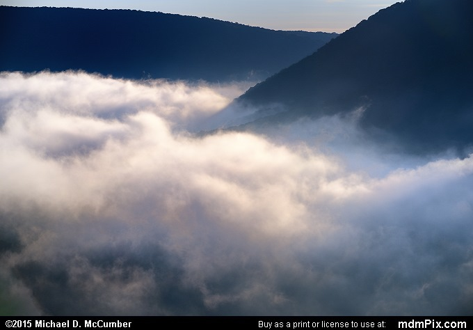 Fog (Fog Picture 020 - September 19, 2015 from Ohiopyle State Park, Pennsylvania)
