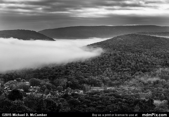 Tharp Knob Overlook (Tharp Knob Overlook Black and White Picture 002 - October 8, 2015 from Ohiopyle State Park, Pennsylvania)