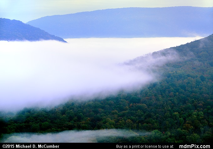 Laurel Ridge (Laurel Ridge Picture 004 - October 8, 2015 from Ohiopyle State Park, Pennsylvania)
