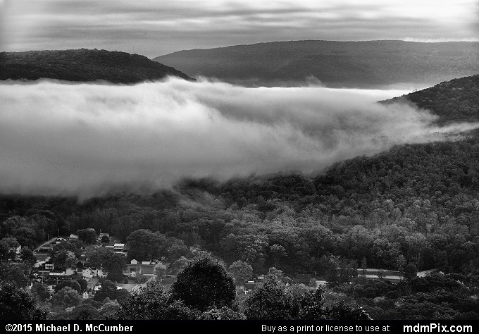 Tharp Knob Overlook (Tharp Knob Overlook Black and White Picture 021 - October 8, 2015 from Ohiopyle State Park, Pennsylvania)