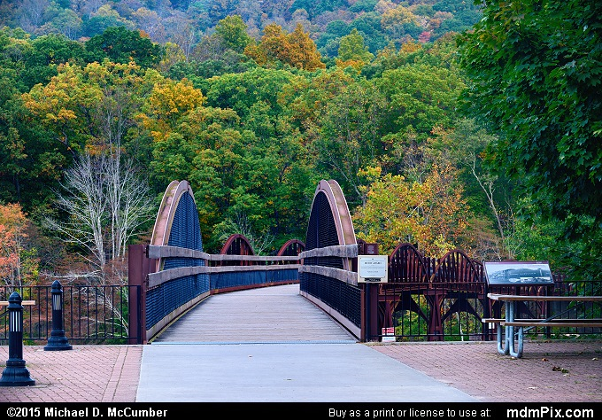 Low Ohiopyle Bridge (Low Ohiopyle Bridge Picture 033 - October 8, 2015 from Ohiopyle State Park, Pennsylvania)