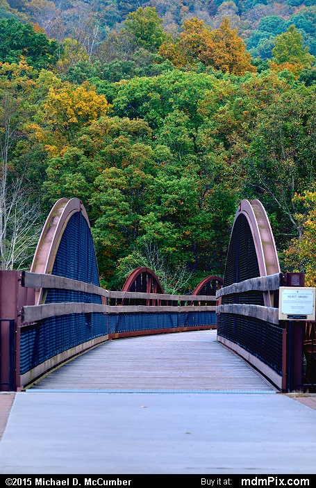 Low Ohiopyle Bridge (Low Ohiopyle Bridge Picture 034 - October 8, 2015 from Ohiopyle State Park, Pennsylvania)