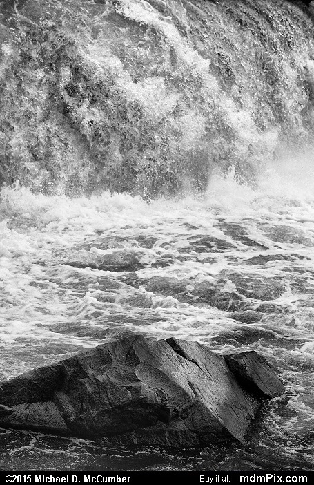 Ohiopyle Falls (Ohiopyle Falls Black and White Picture 048 - October 8, 2015 from Ohiopyle State Park, Pennsylvania)