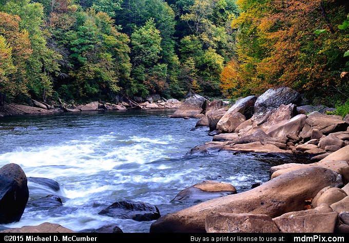 Youghiogheny River (Youghiogheny River Picture 068 - October 8, 2015 from Ohiopyle State Park, Pennsylvania)