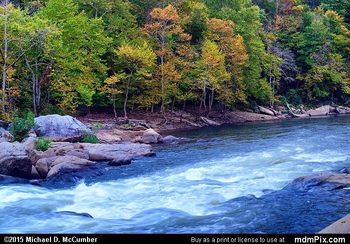 Youghiogheny River (Youghiogheny River Picture 073 - October 8, 2015 from Ohiopyle State Park, Pennsylvania)