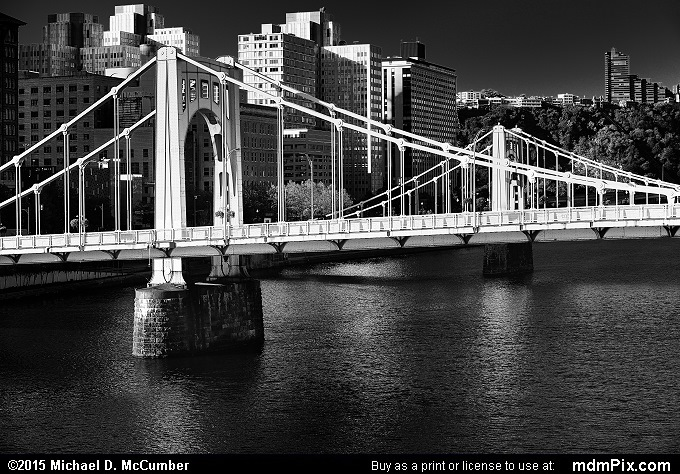 Andy Warhol Bridge (Andy Warhol Bridge Black and White Picture 047 - October 10, 2015 from Pittsburgh, Pennsylvania)