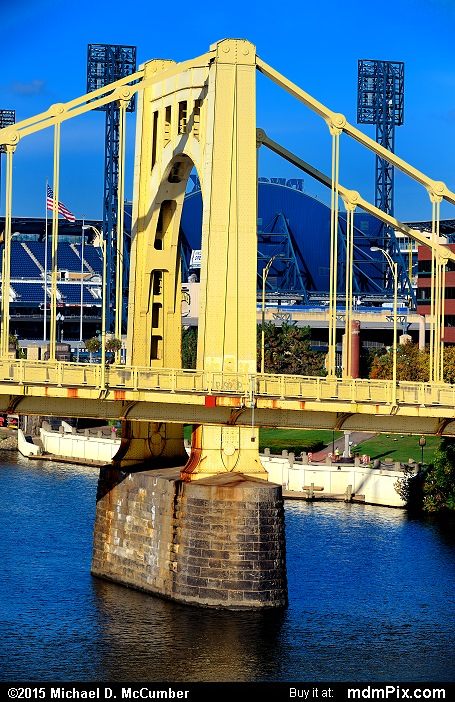 Roberto Clemente Bridge (Roberto Clemente Bridge Picture 050 - October 10, 2015 from Pittsburgh, Pennsylvania)