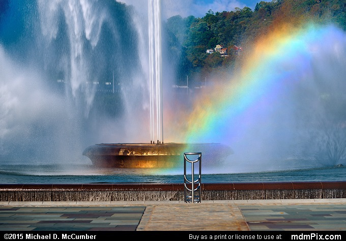 Three Rivers Point Fountain (Three Rivers Point Fountain Picture 067 - October 10, 2015 from Point State Park, Pennsylvania)