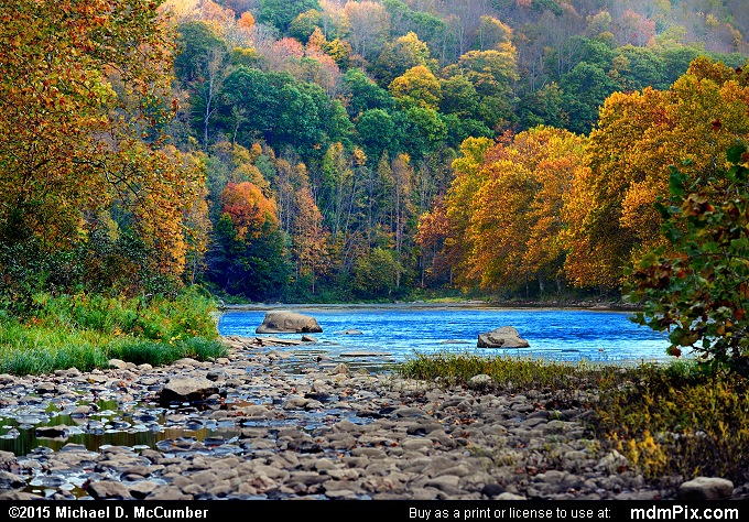 Youghiogheny River Rocks with Chestnut Ridge Fall Foliage