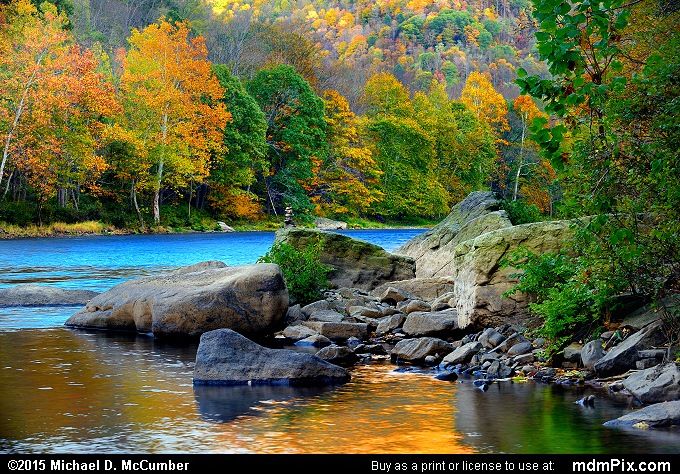 Youghiogheny River and Sandstone Rocks in Fall