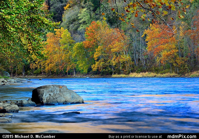 Youghiogheny River (Youghiogheny River Picture 028 - October 21, 2015 from Dunbar Township, Pennsylvania)