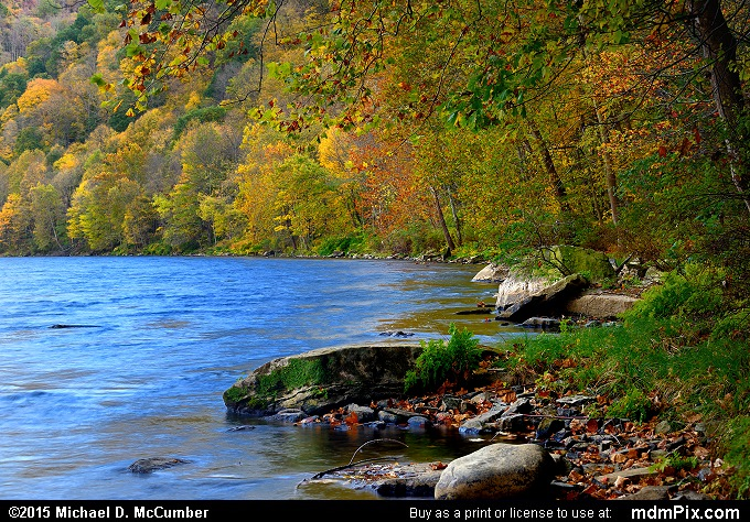 Youghiogheny River (Youghiogheny River Picture 031 - October 21, 2015 from Dunbar Township, Pennsylvania)